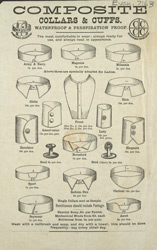 Advert For Composite Collars & Cuffs, Men's Clothing